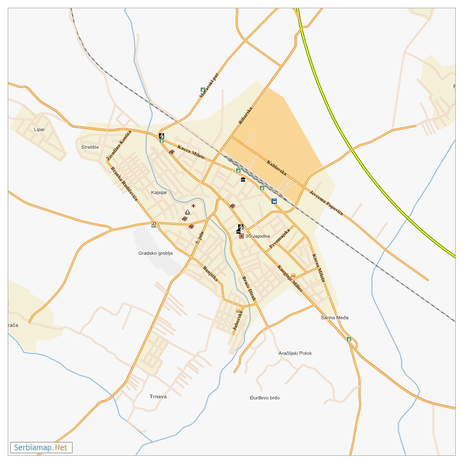 Jagodina City Map