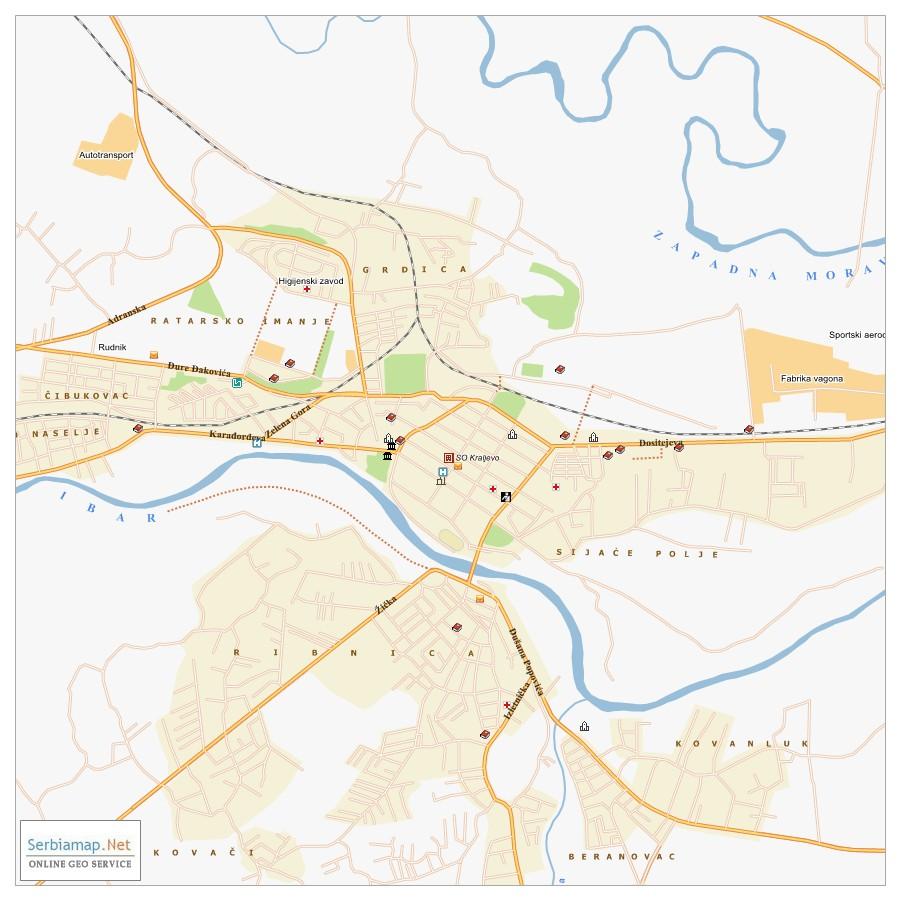 Kraljevo City Map