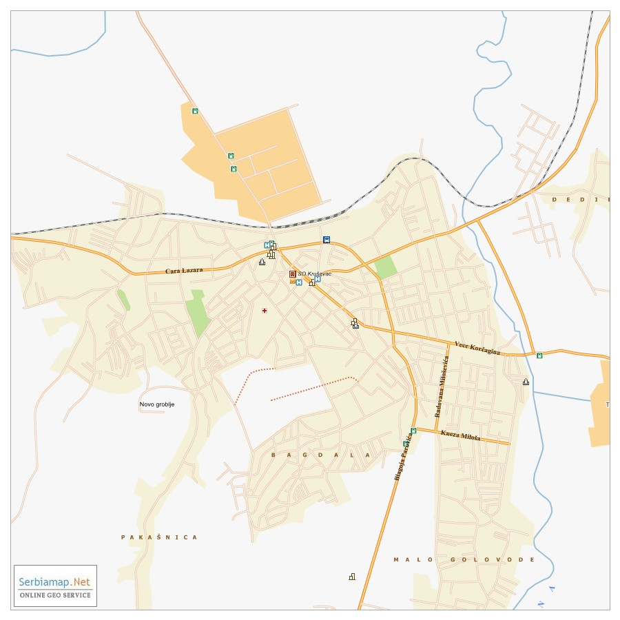 Krusevac City Map