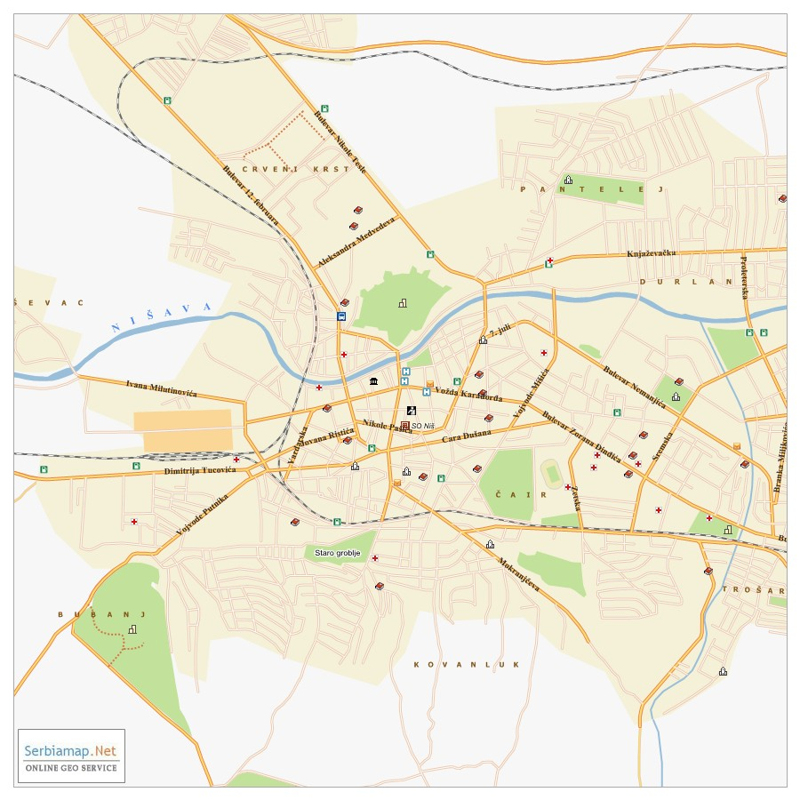Nis City Map